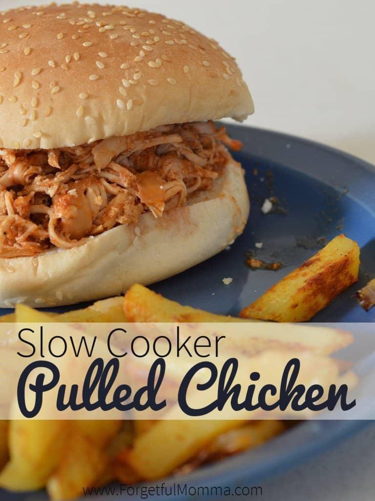 Pulled Chicken Juicy Burger + BBQ Sauce