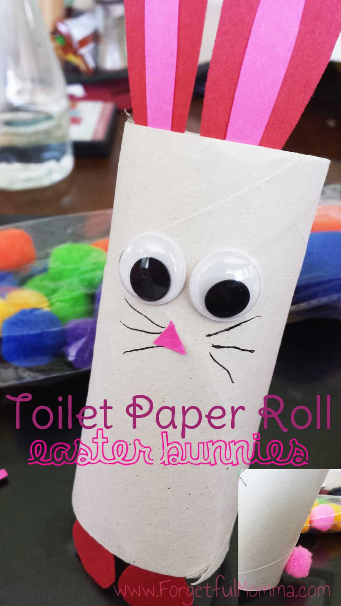 Toilet Paper Roll Easter Bunnies