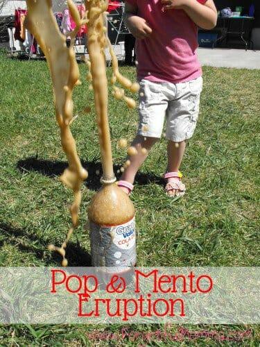 Pop and Mentos Eruption