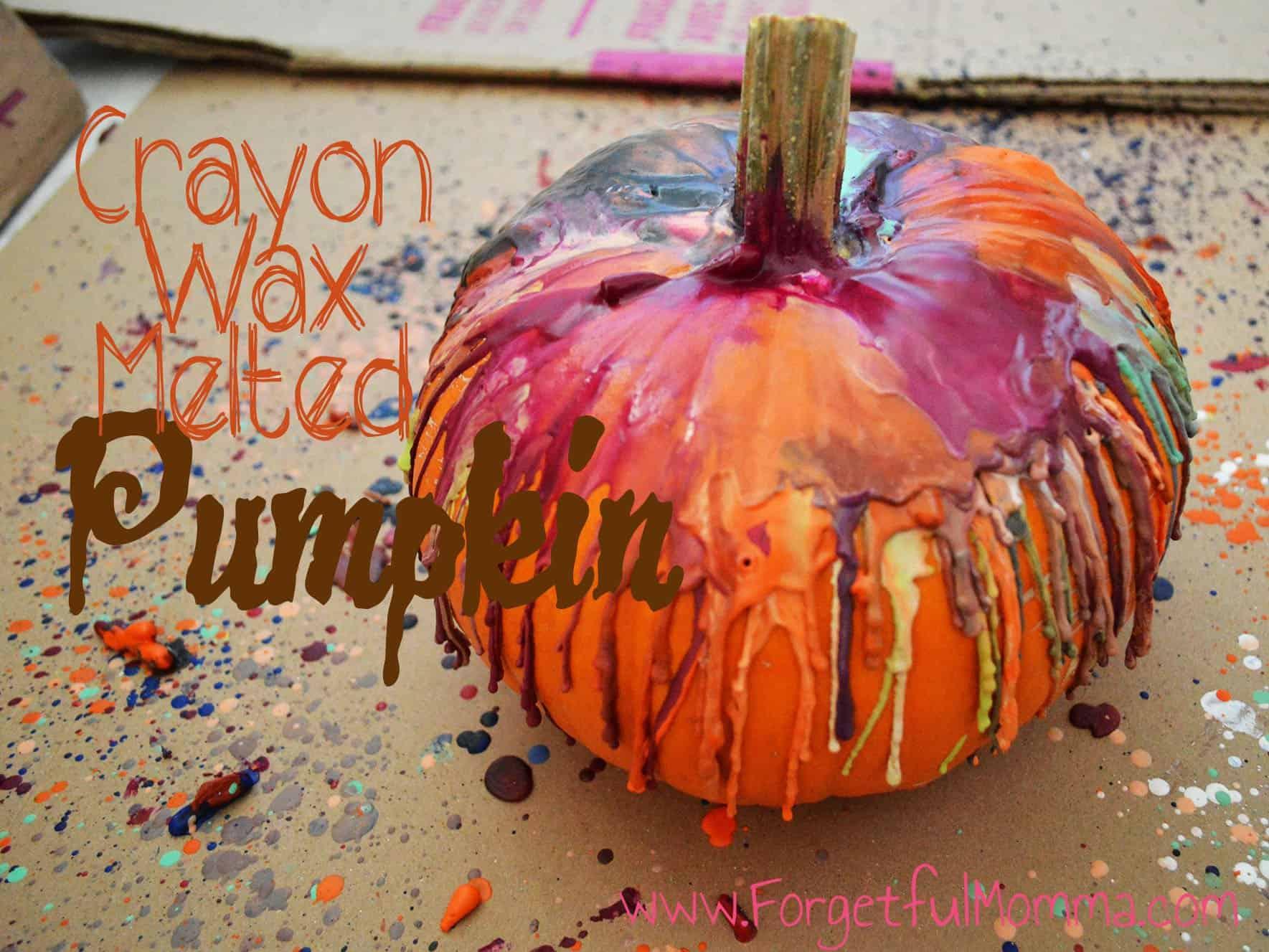 Crayon Wax Melted Pumpkin