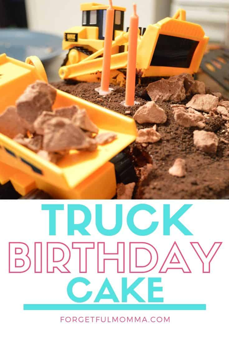 Easy Truck Birthday Cake