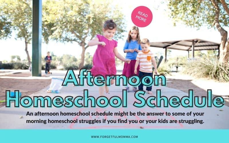 Afternoon Homeschool Schedule