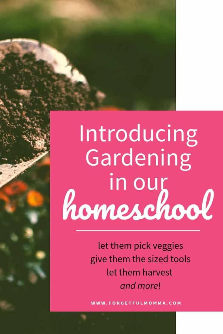 Teaching Kids to Garden in Our Homeschool