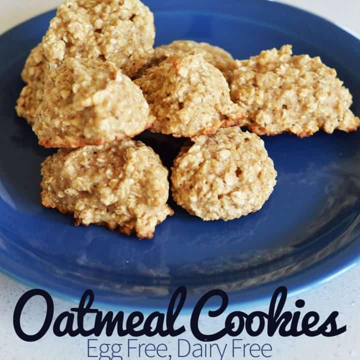 Egg Free Dairy Free Oatmeal CookiesEgg Free Dairy Free Oatmeal Cookies