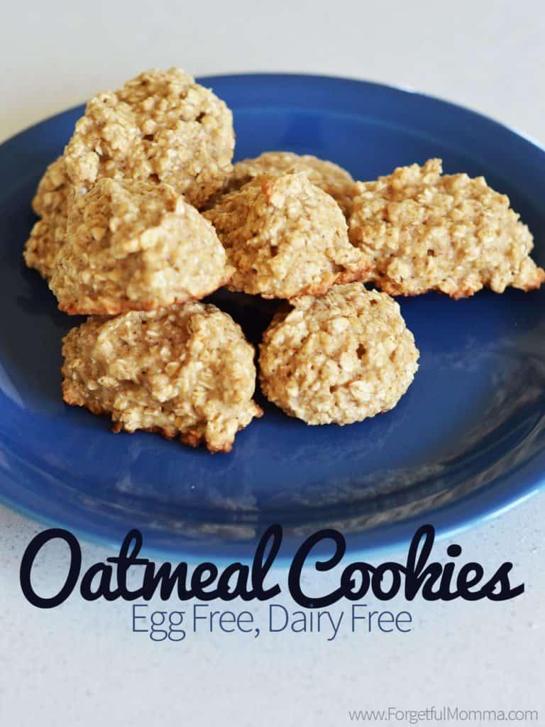 Oatmeal Cookies – Egg Free, Dairy Free