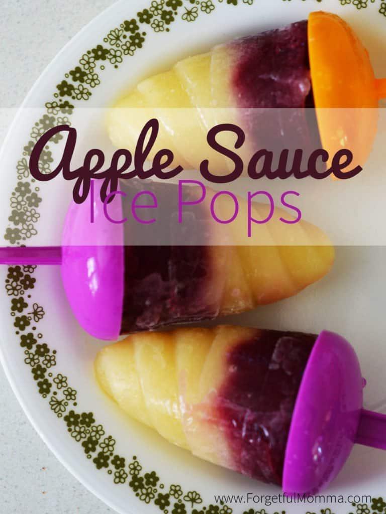 Apple Sauce Ice Pops
