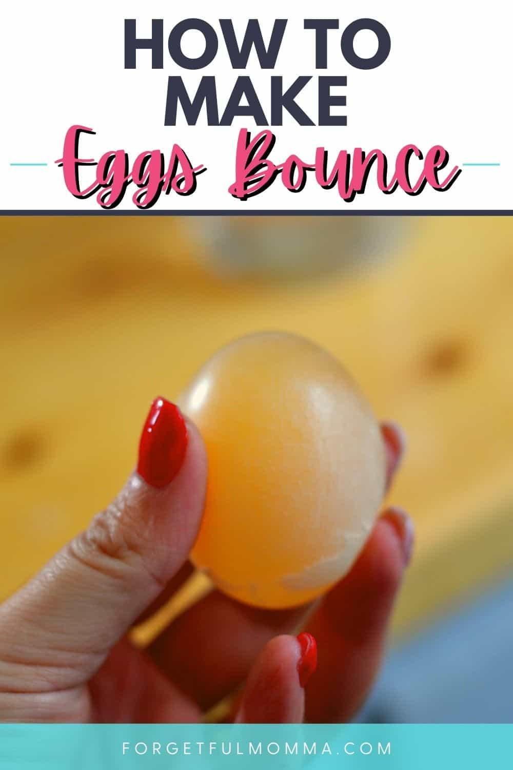 Glowing Bouncy Egg - vinegar and egg - Rubber Egg Science