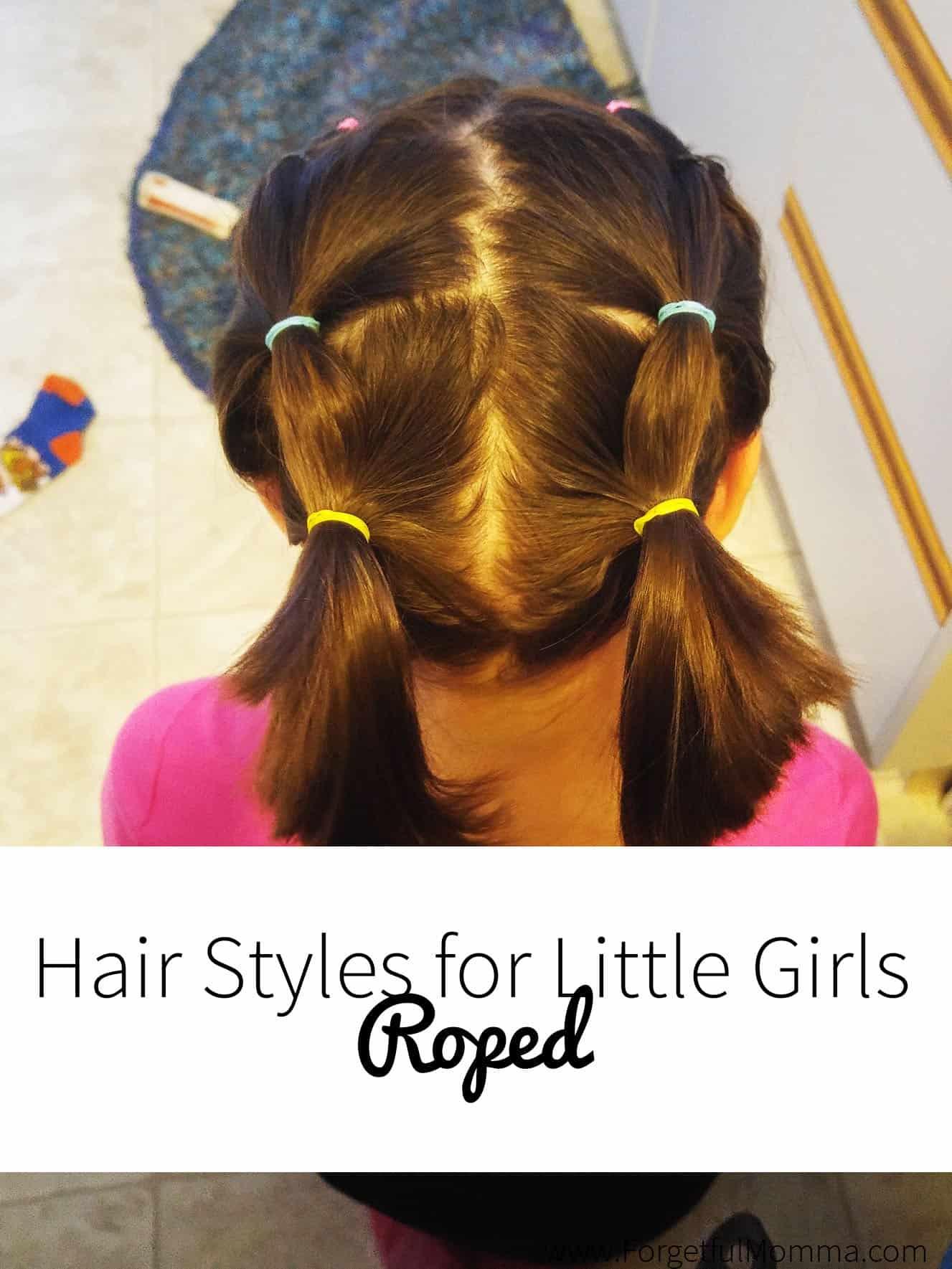 Little Girl Hair Styles - Roped