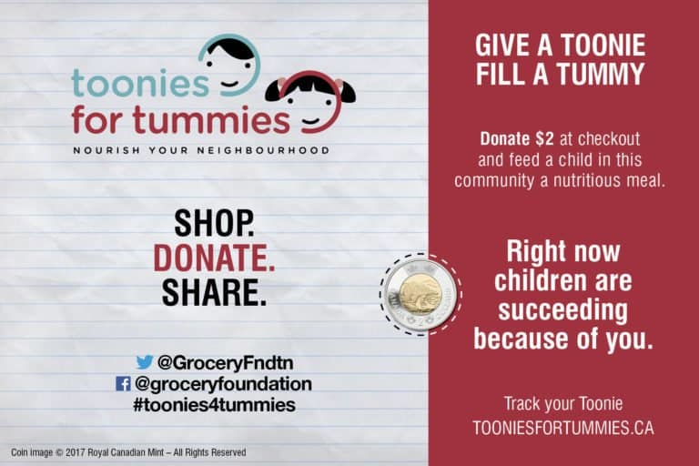 The Grocery Foundation Toonies for Tummies