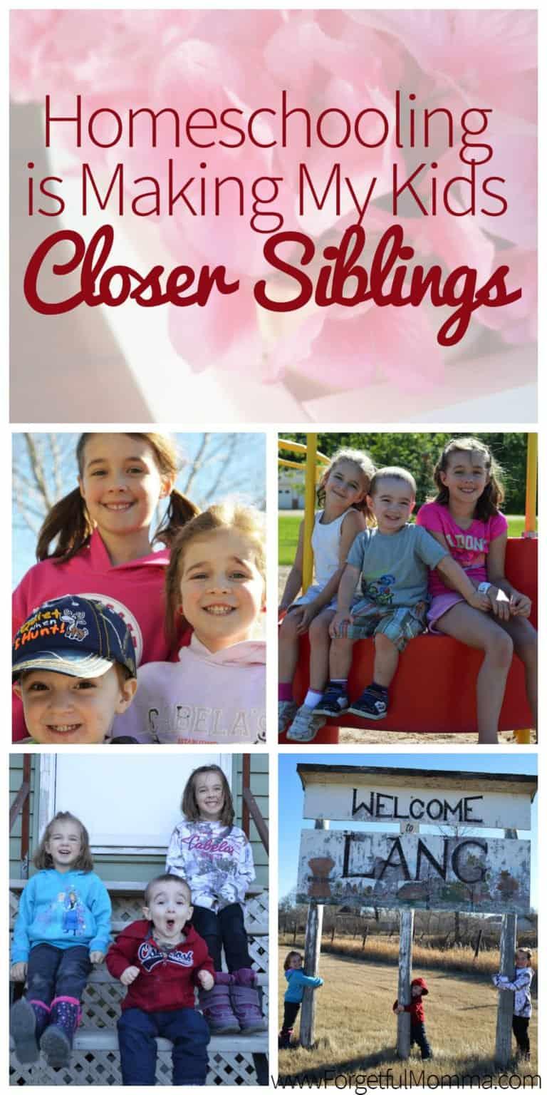 Homeschooling is Making My Kids Closer Siblings
