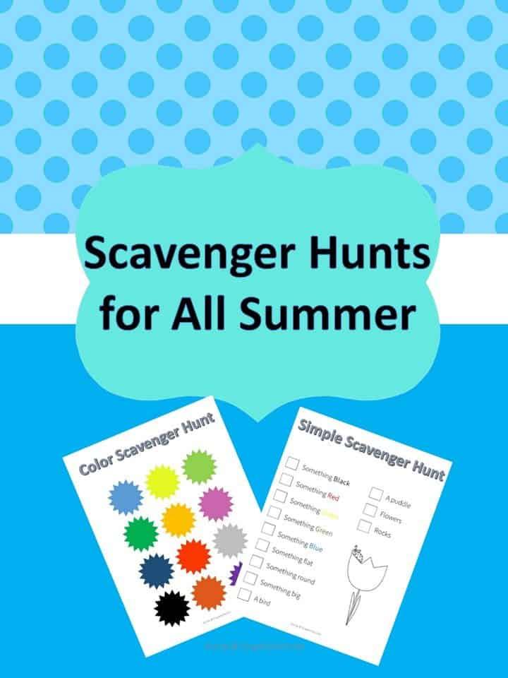 Scavenger Hunts for All Summer Long