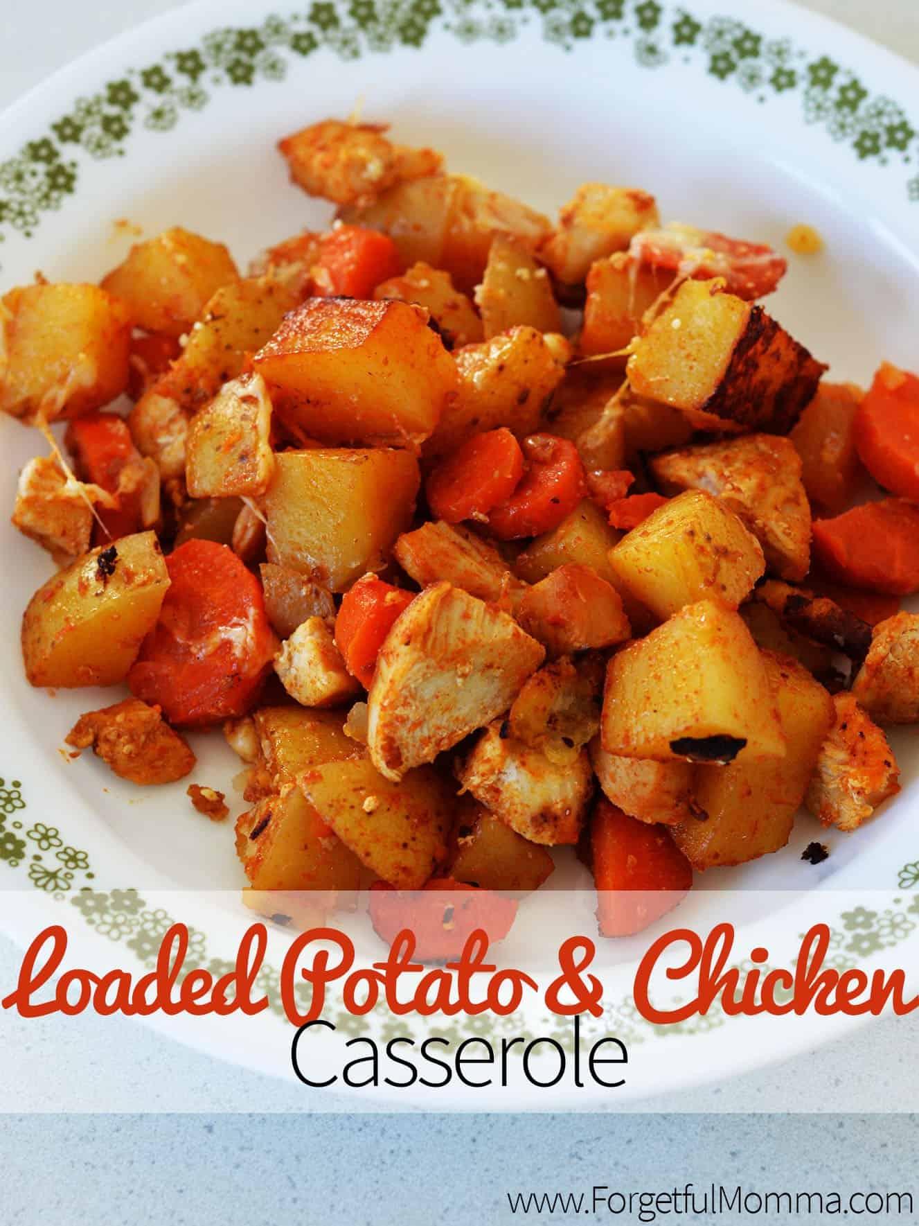 Loaded Potato & Chicken Casserole