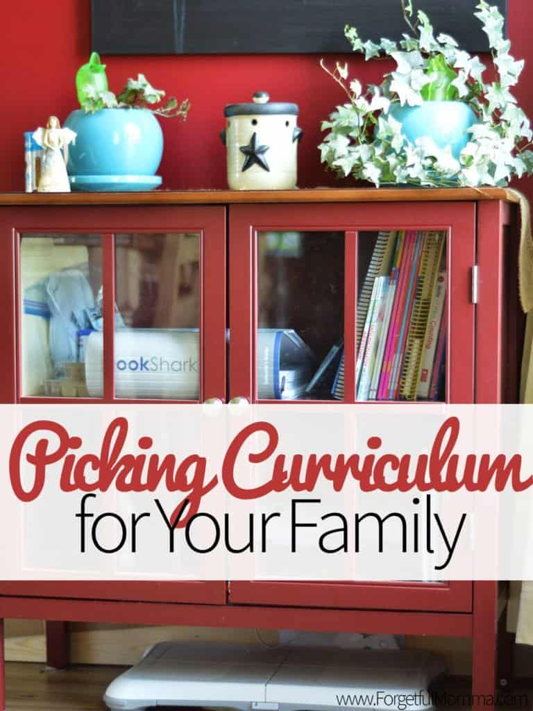 Picking Curriculum for Your Family