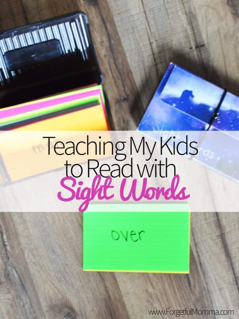 Teaching Your Kids to Read with Sight Words