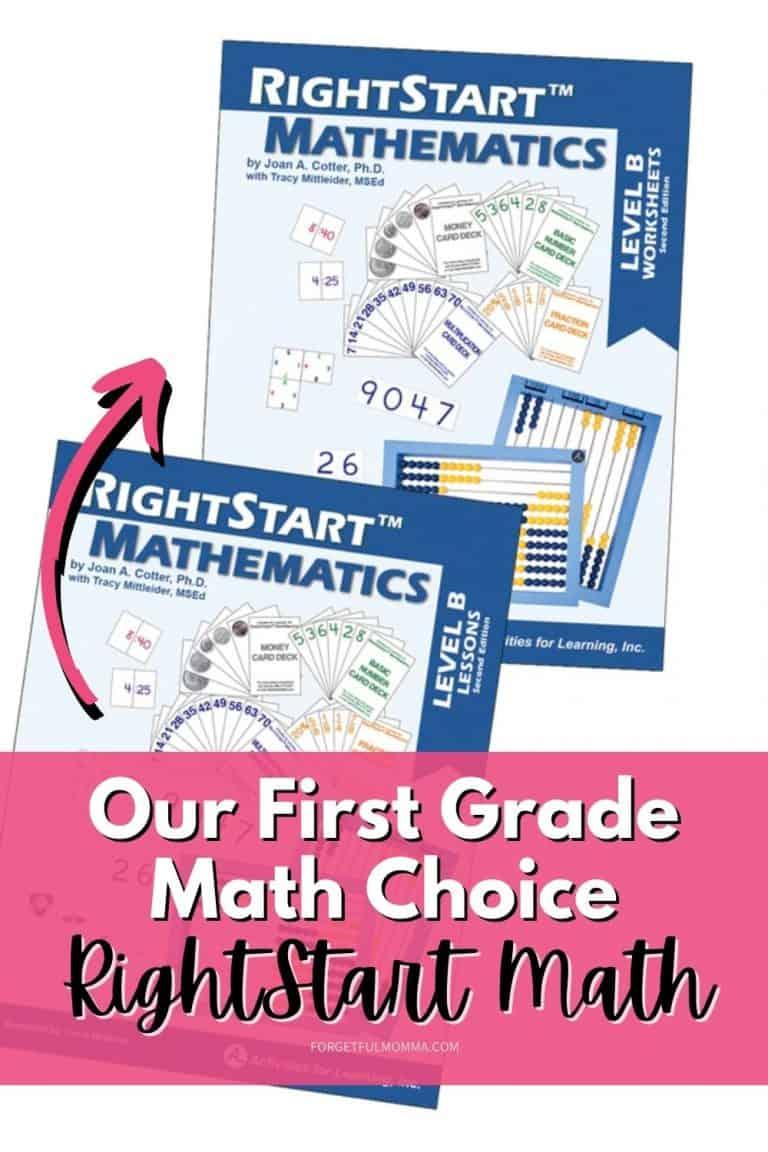 Our First Grade Math Choice – RightStart Math