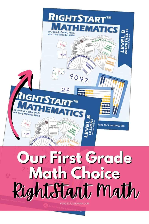 Our First Grade Math Choice - RightStart Math