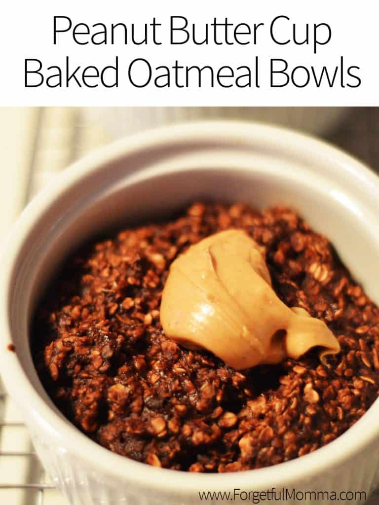 Peanut Butter Cup Baked Oatmeal Bowls