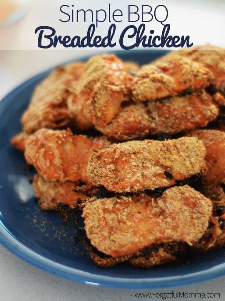 Simple BBQ Breaded Chicken