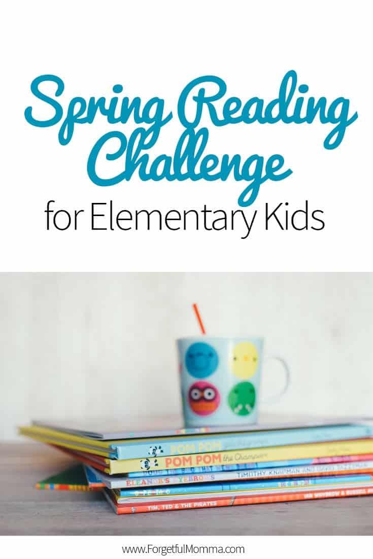 Spring Reading Challenge for Elementary Kids