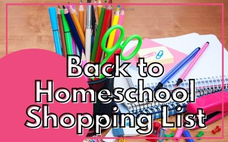Back to Homeschool Shopping List