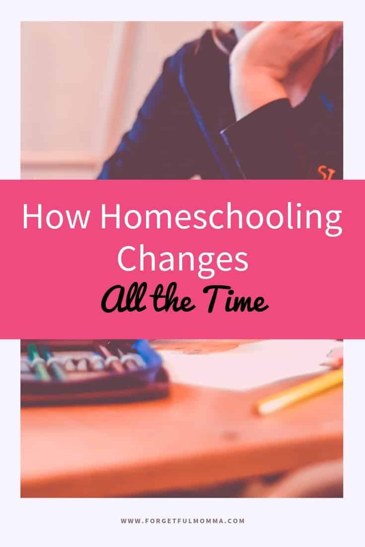 How Homeschooling Changes All the Time