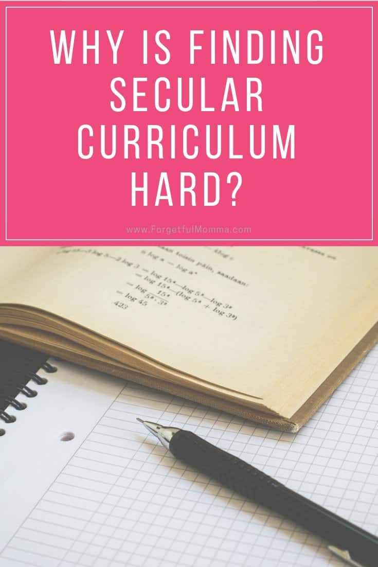 Why is Finding Secular Curriculum Hard?