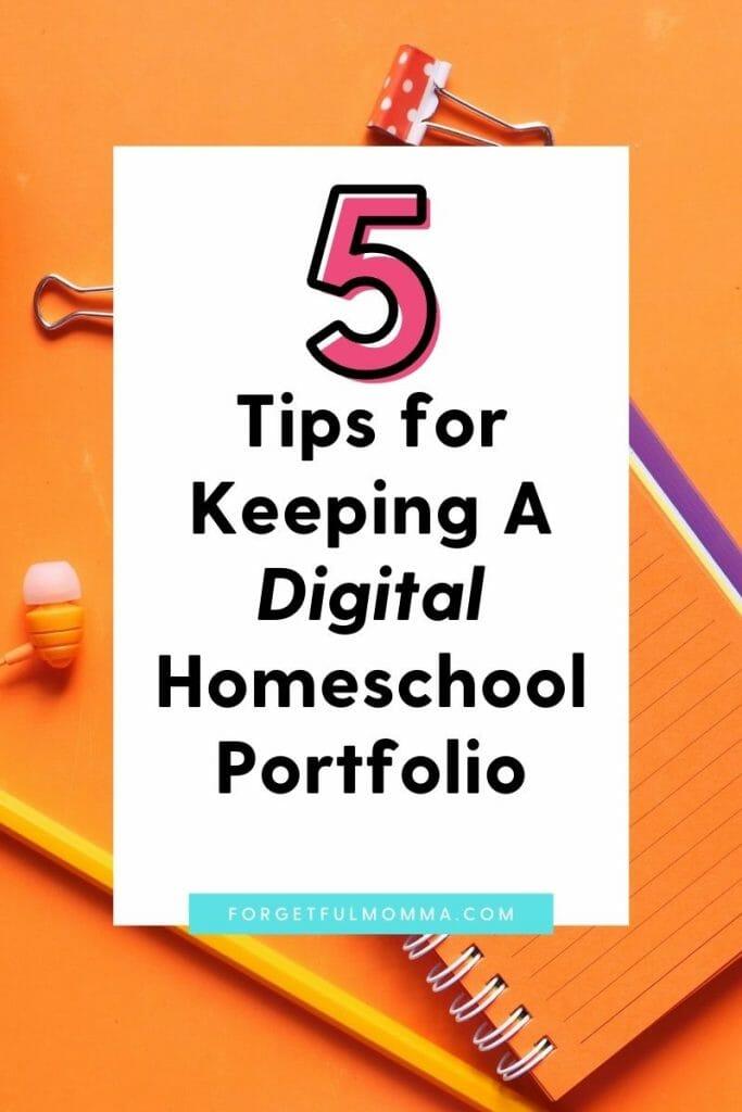 Keeping A Digital Homeschool Portfolio