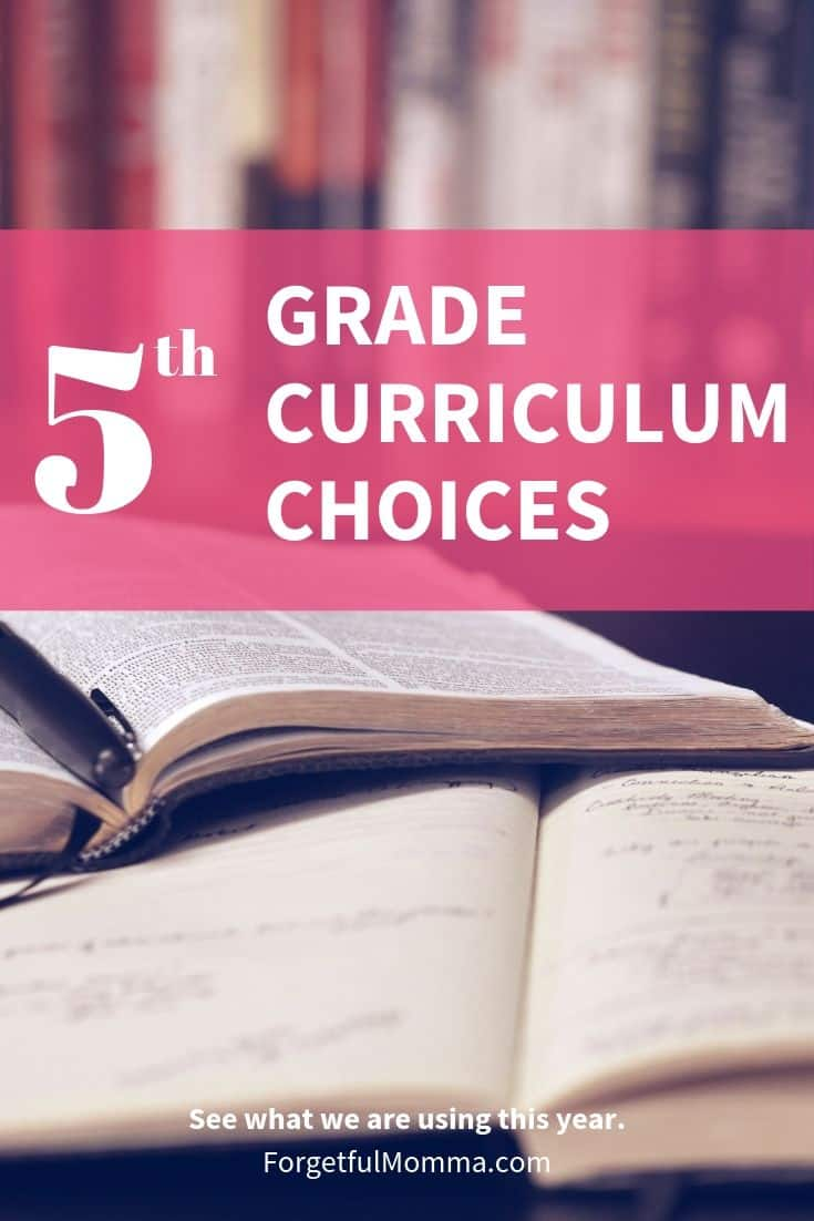 Our Grade 5 Curriculum Choices for 2019-2020
