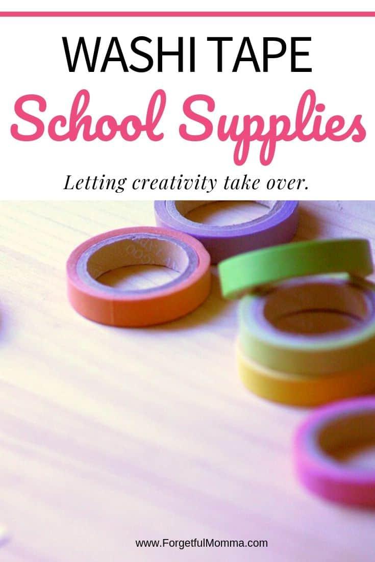 Washi Tape School Supplies for Your Homeschool