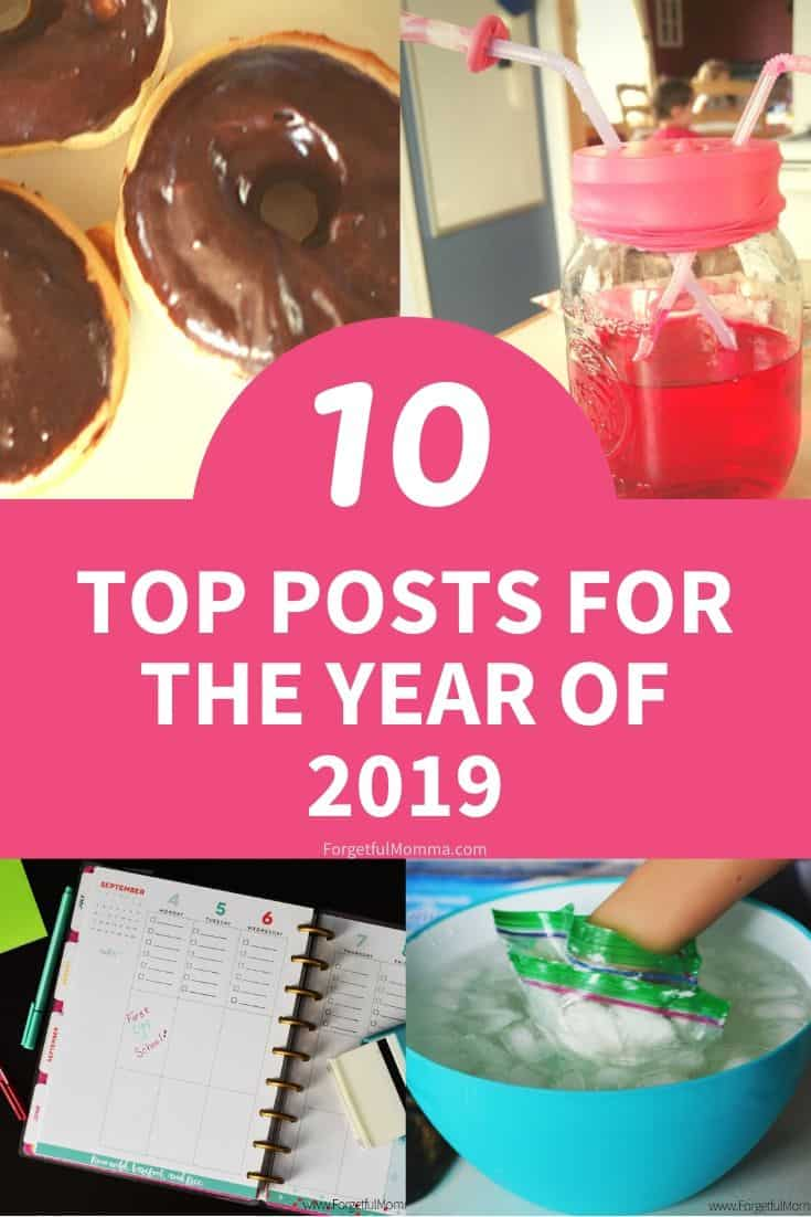 Top 10 of 2019 on Forgetful Momma