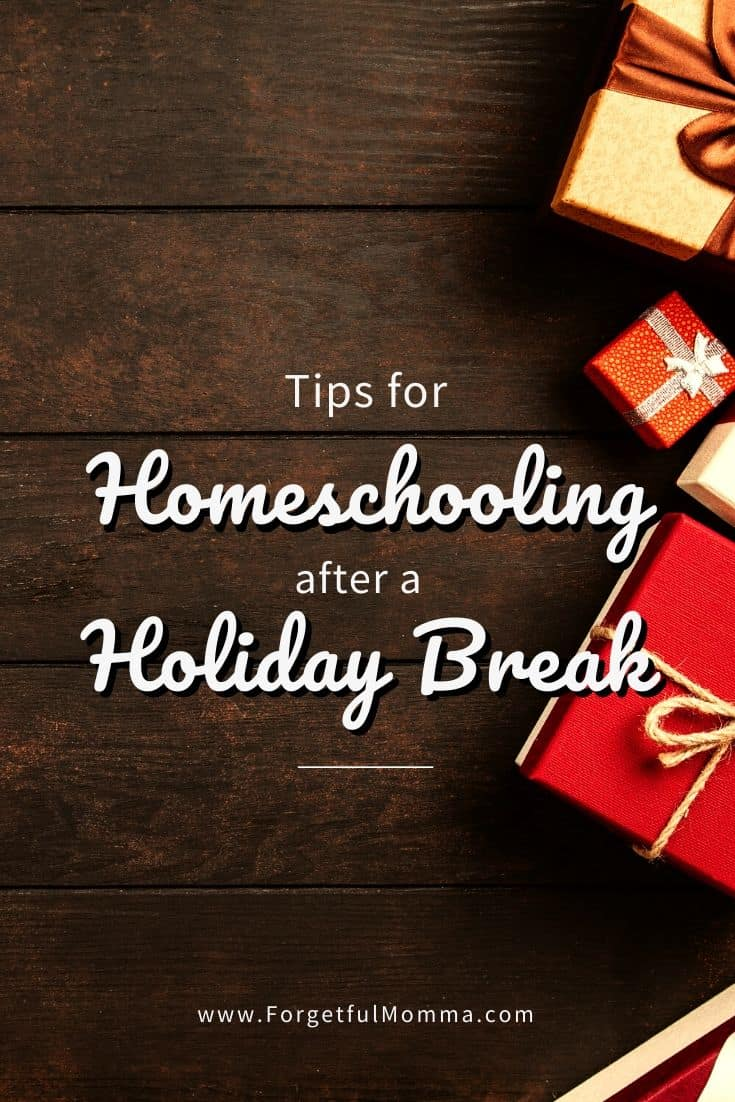 Homeschooling After A Holiday Break