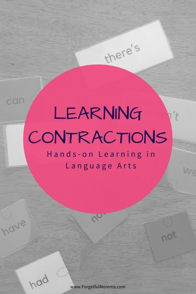 Learning Contractions in Language Arts