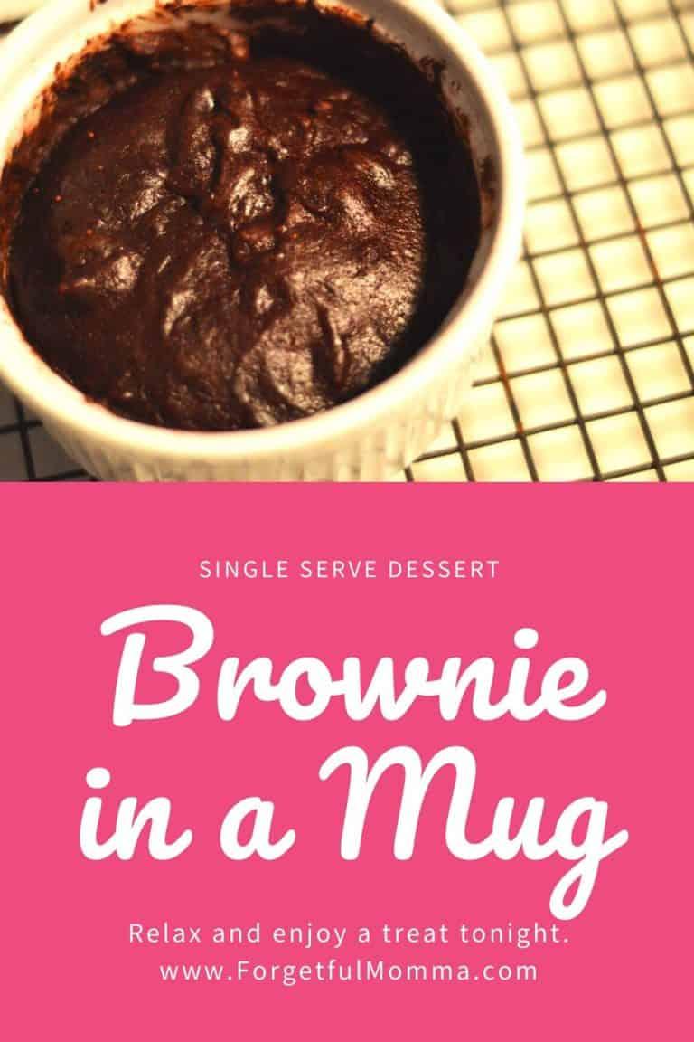 A Brownie in a Mug – Single Serve Dessert