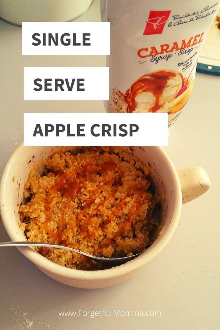 5 Minute Single Serve Apple Crisp
