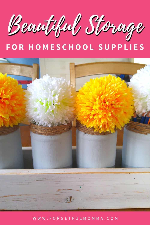 Storage for Homeschool Supplies