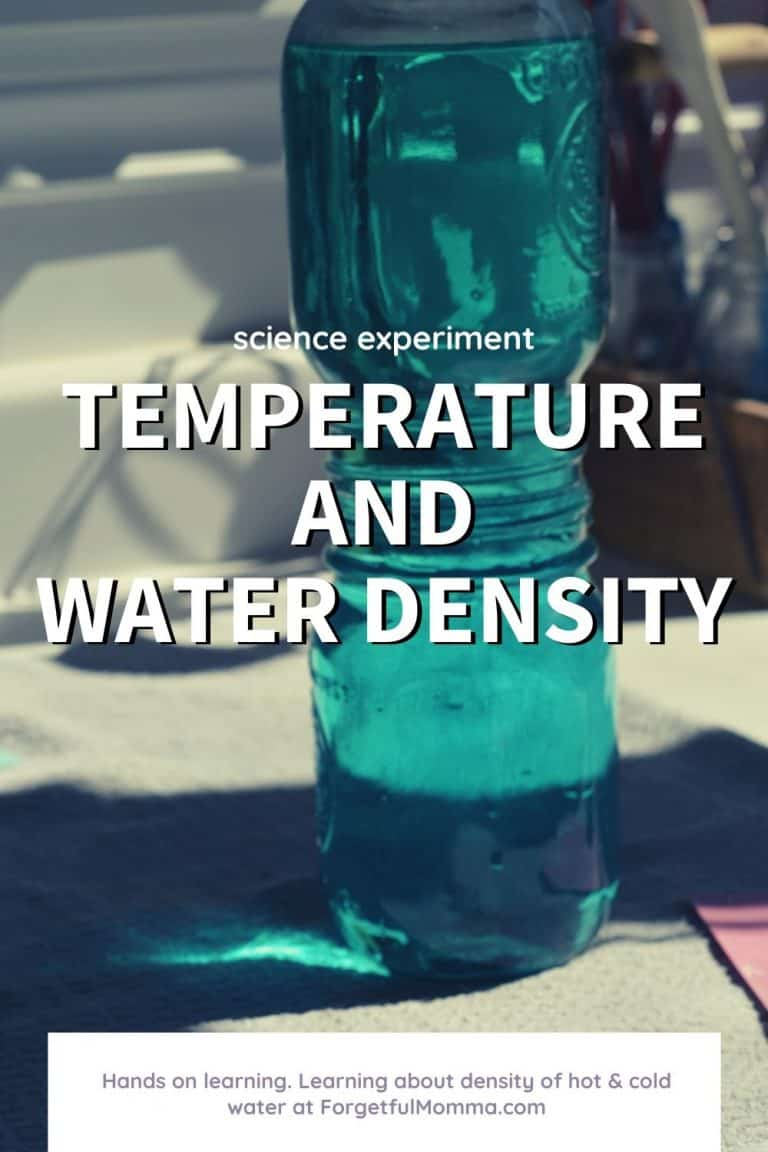 Temperature and Water Density Science Experiment