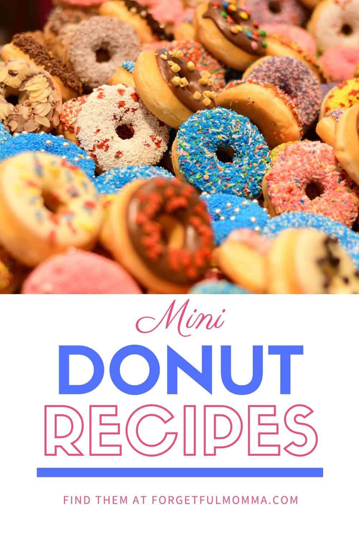 Mini Donut Recipes