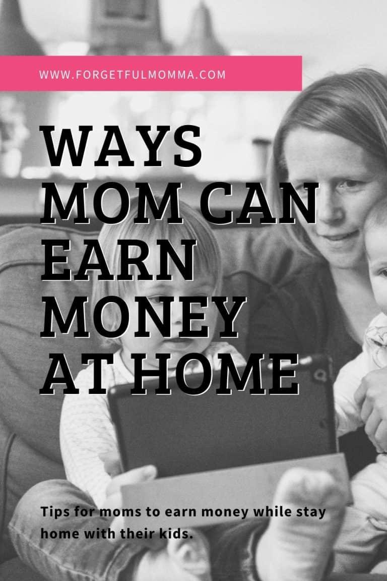 How A Homeschool Mom can Earn Money