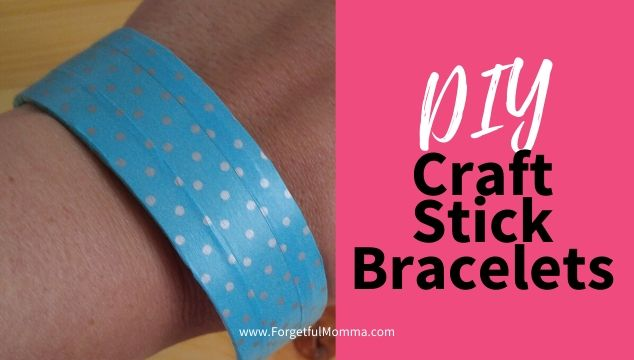Craft Stick Bracelets on wrist
