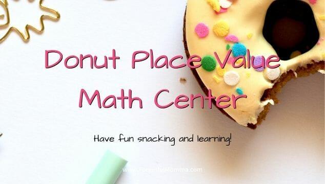 Donut Place Value Math Center