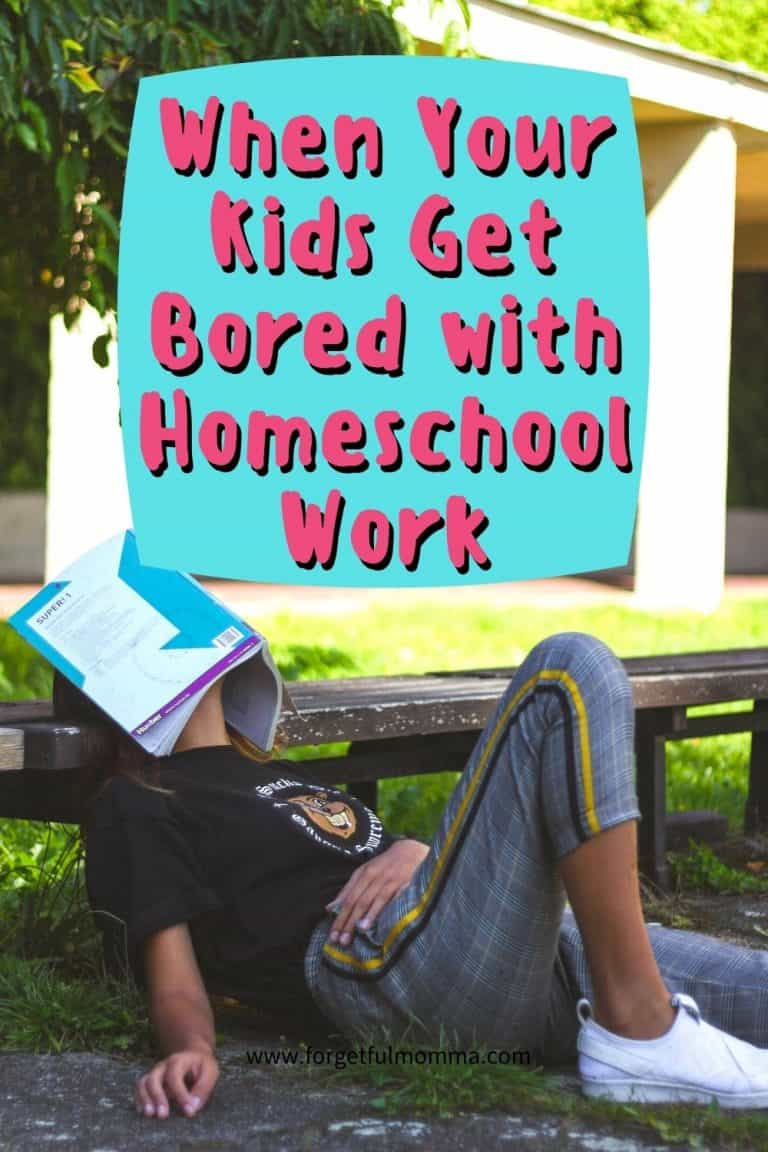 When Your Kids Get Bored with Homeschool Work