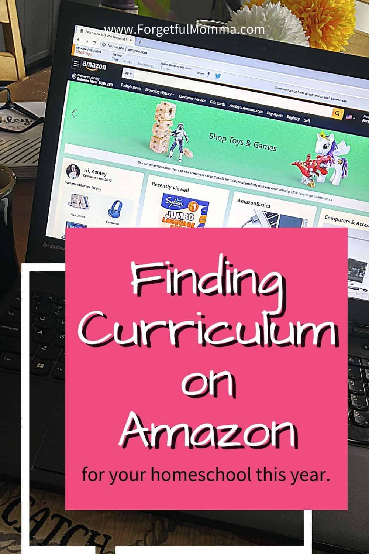 Homeschool Curriculum on Amazon - laptop