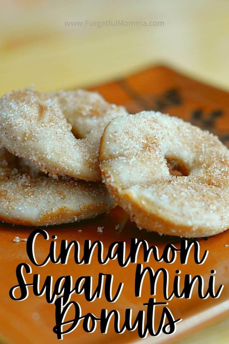Simply Delicious Cinnamon Sugar Mini Donuts