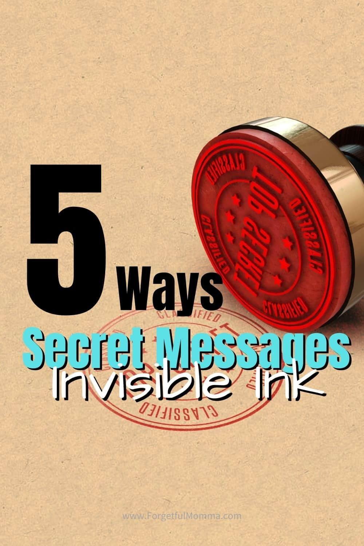 Invisible Ink Secret Messages