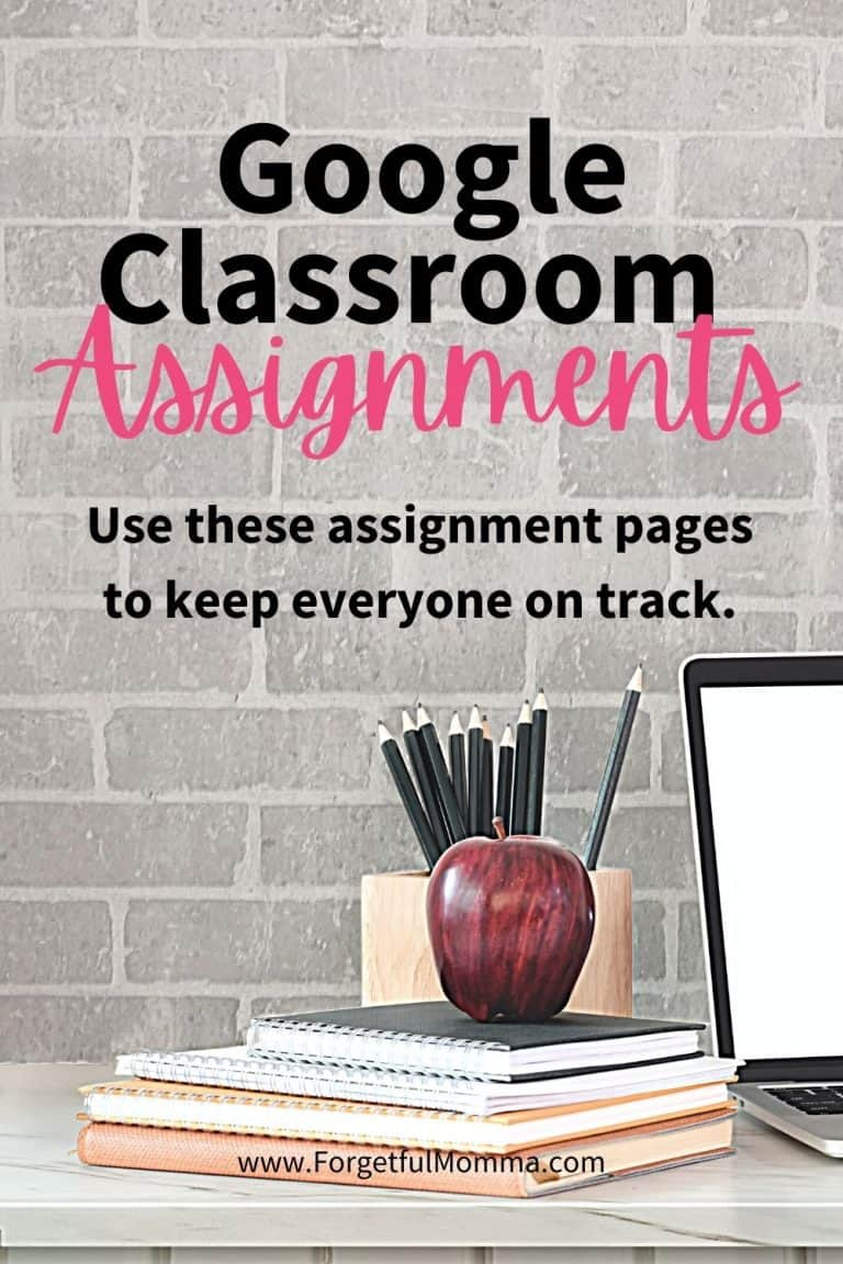 Daily Assignment Pages for Google Classroom & Slides