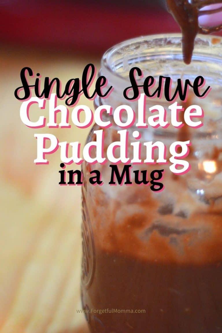 Single Serve Chocolate Pudding in A Mug