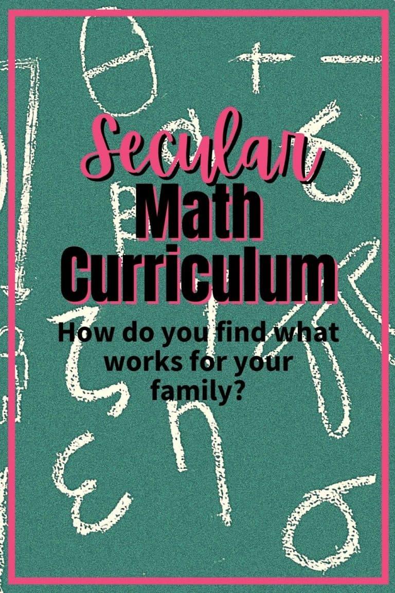 Secular Math Curriculum Homeschool