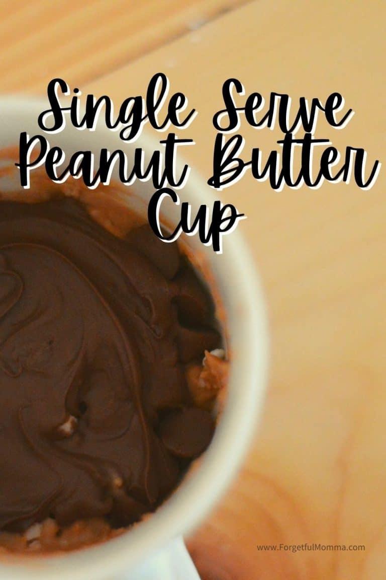 Single Serve Peanut Butter Cup in a Mug