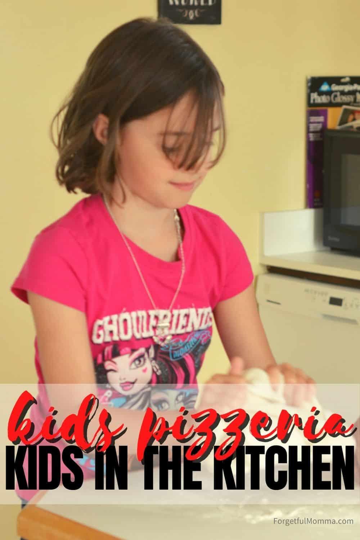 Kids Pizzeria- making pizza dough