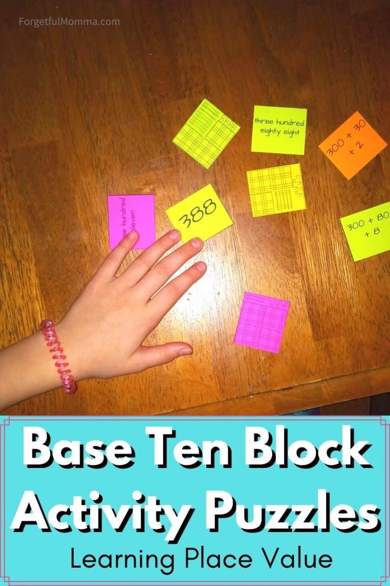 Place Values – Base Ten Block Activity Puzzles